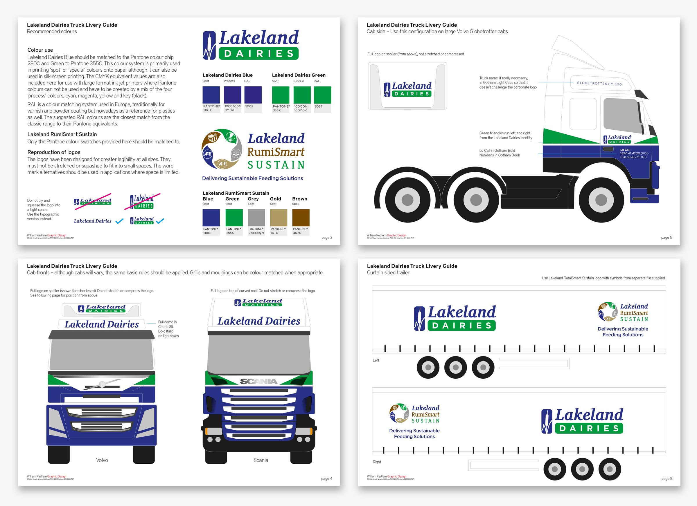 Lakeland Dairies vehicle brand guidelines