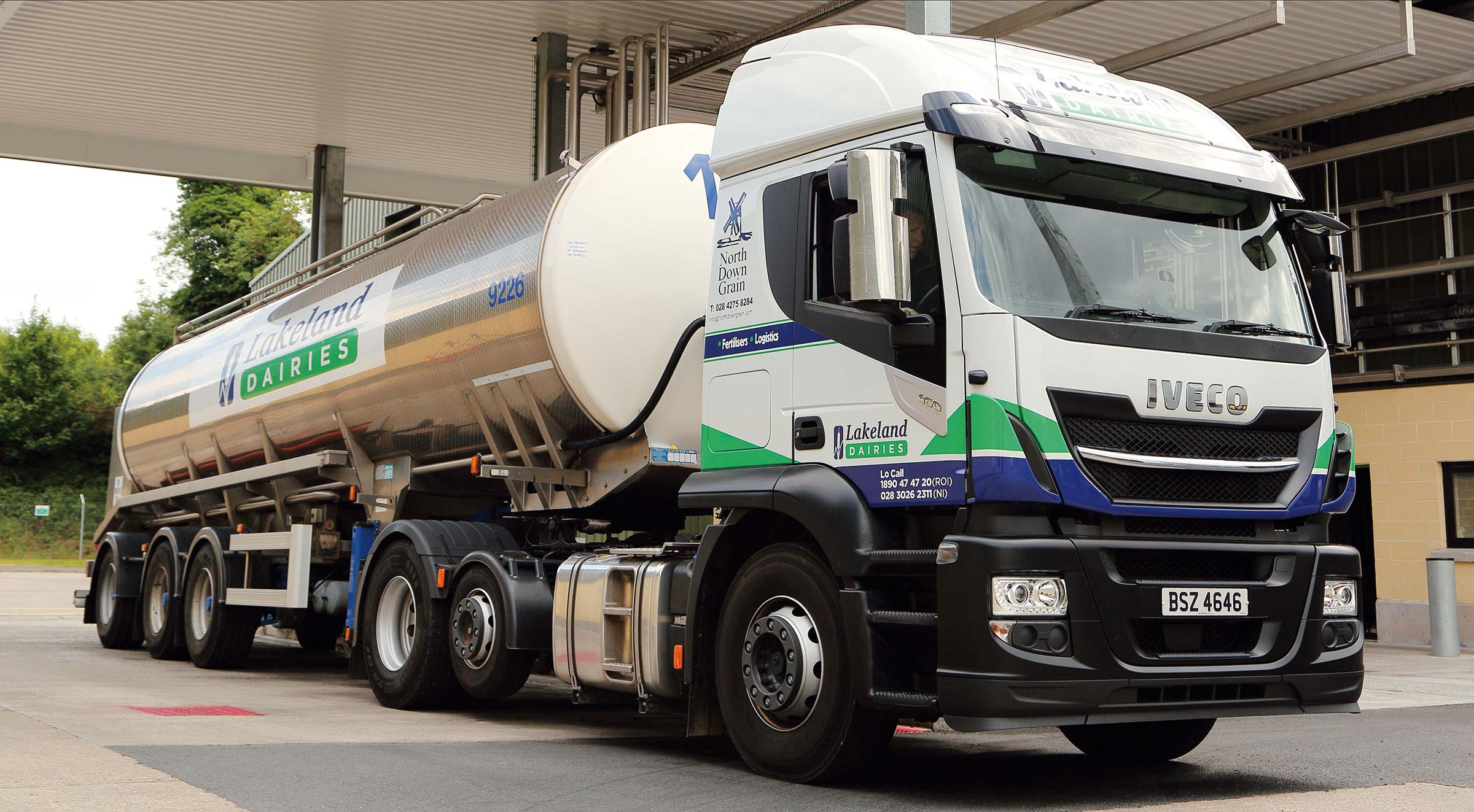 Lakeland Dairies truck