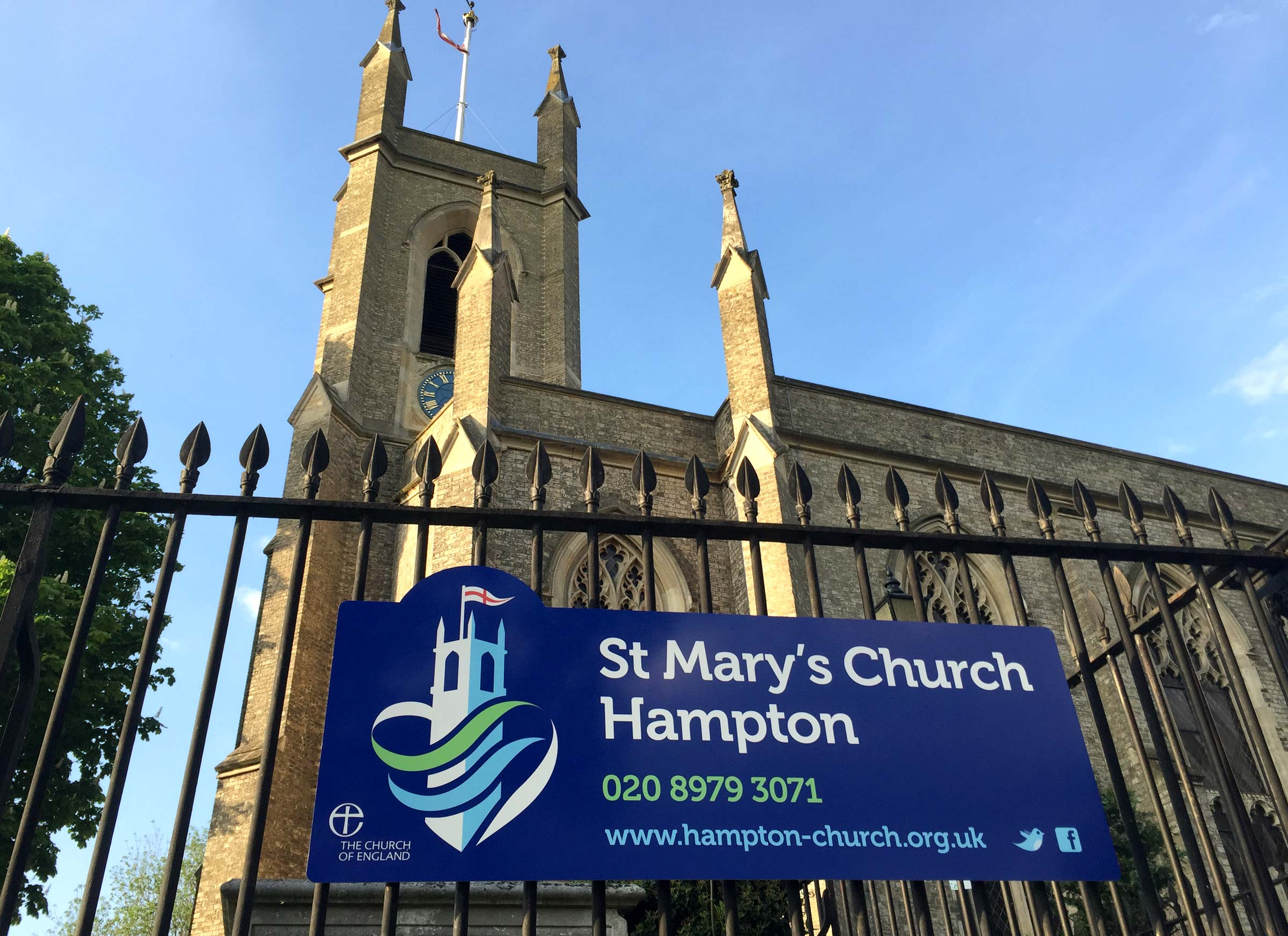 St Mary's church signage