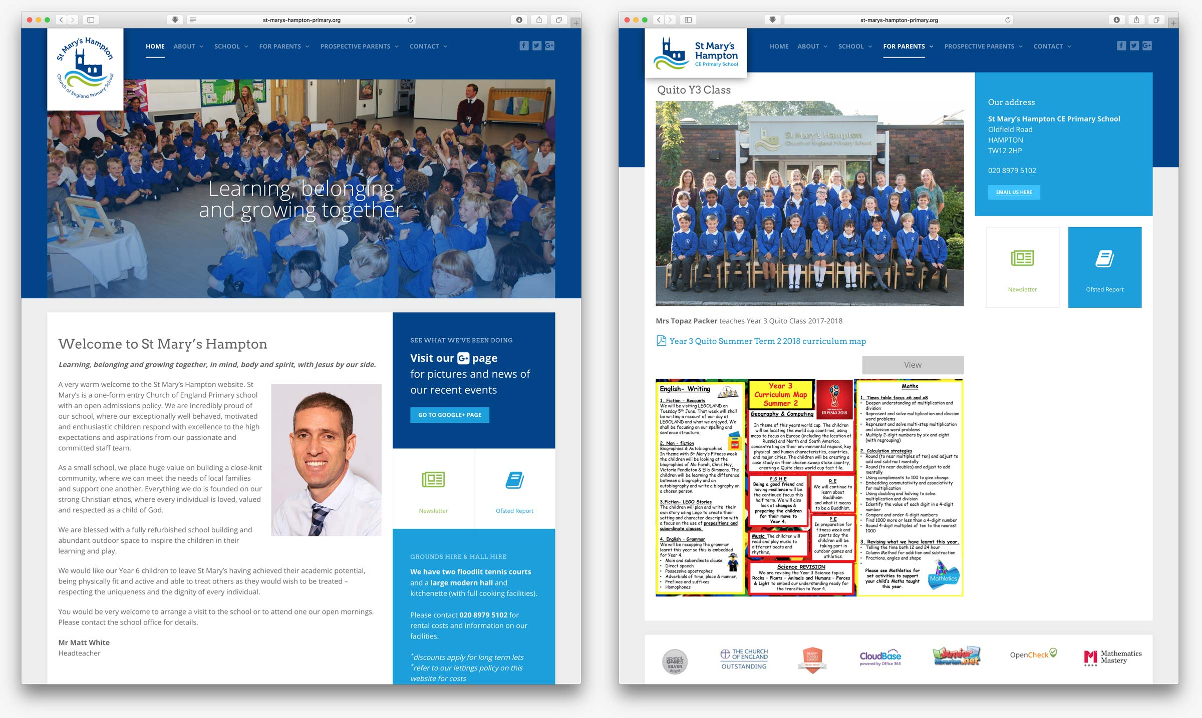 St Mary's primary school website