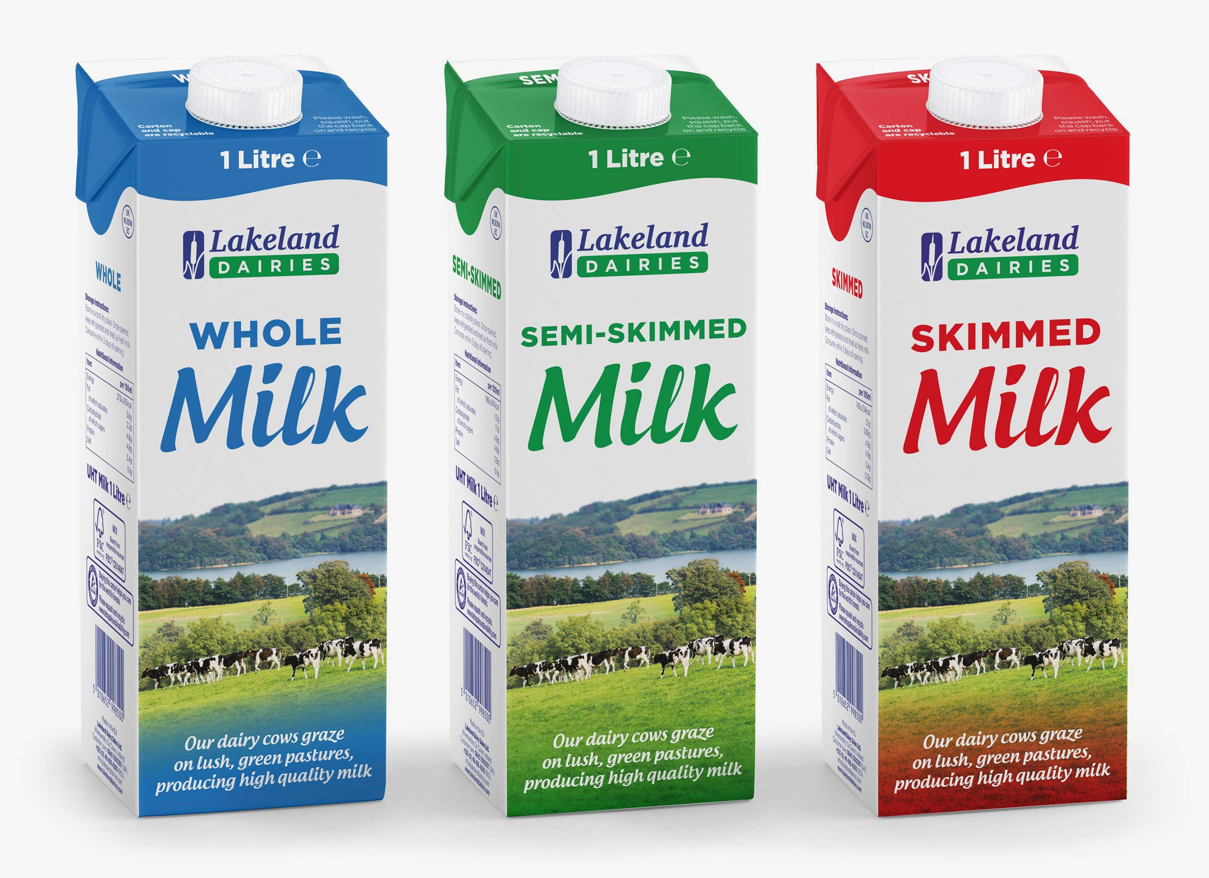 Lakeland Dairies Milk range