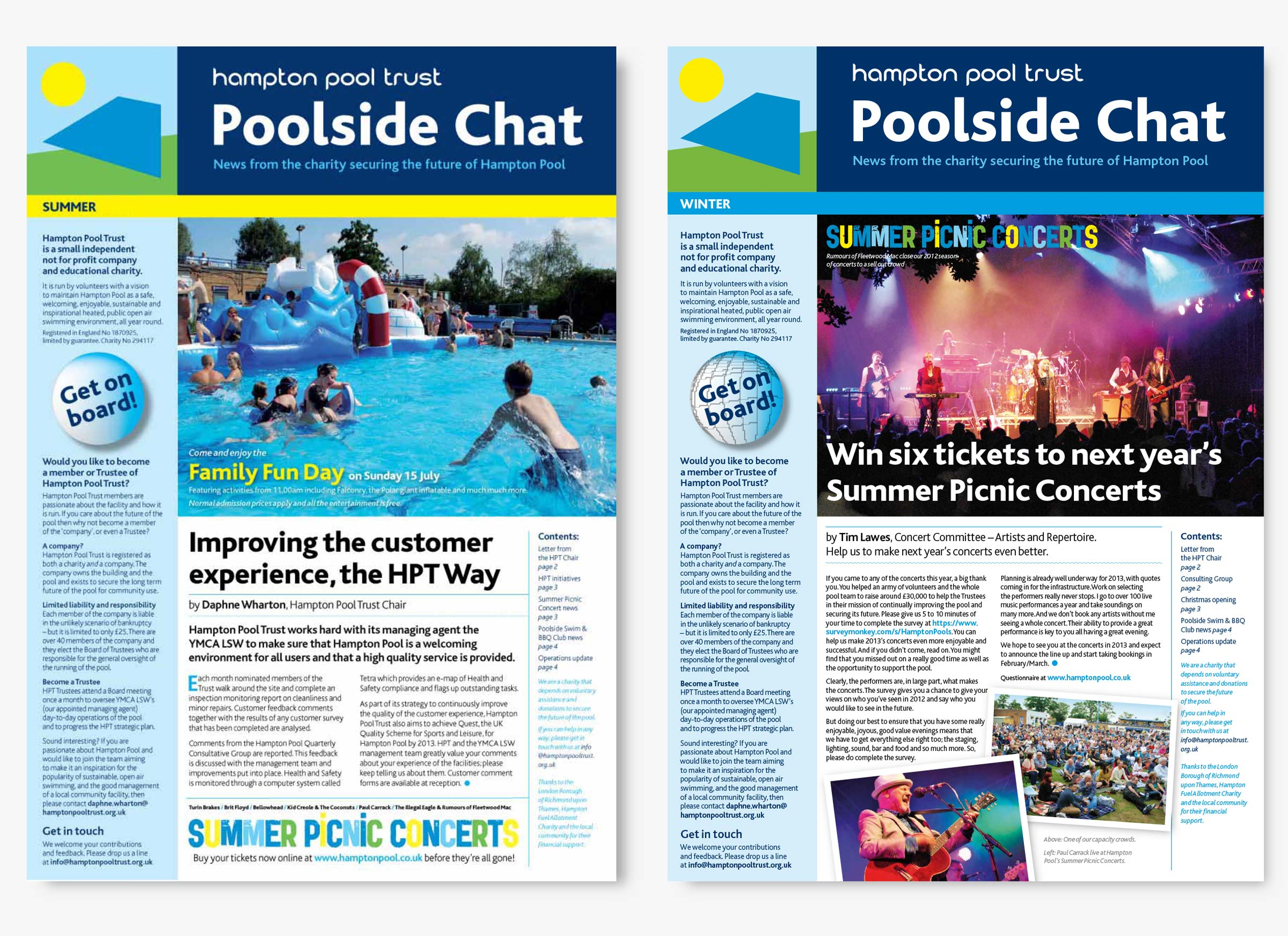 Hampton Pool Trust Poolside Chat newsletter