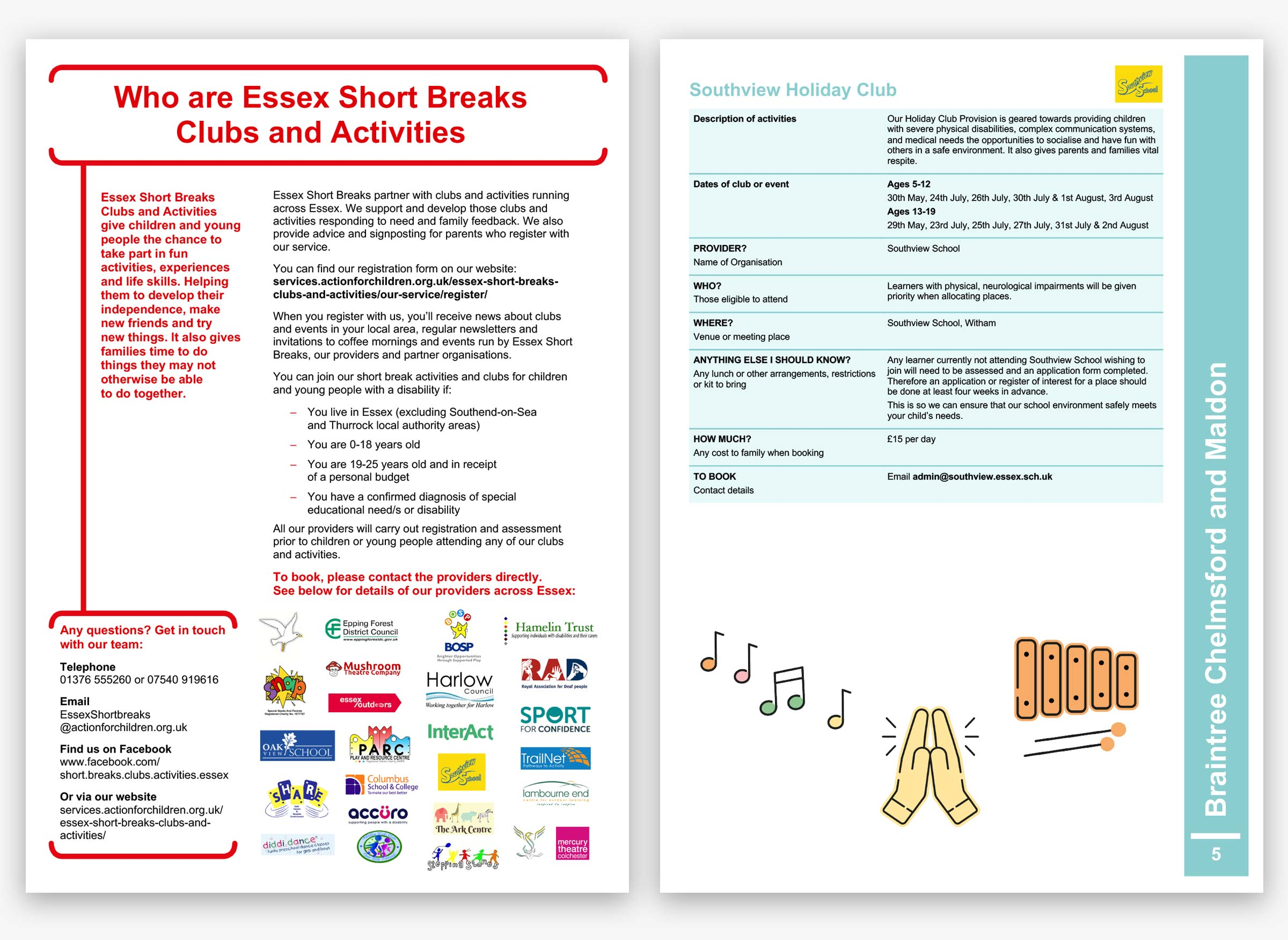Action for Children short breaks template