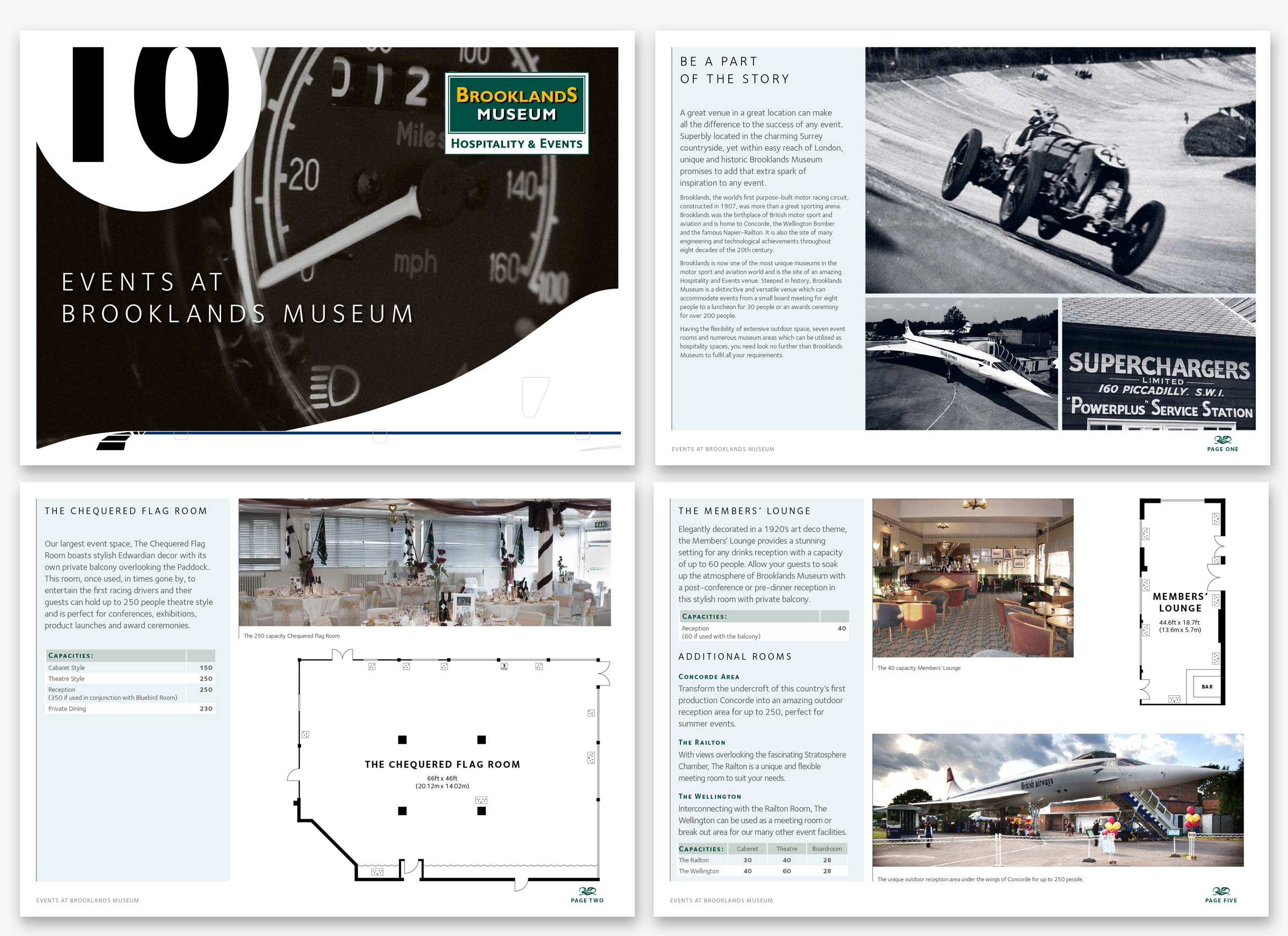 Creativevents brochure template for Brookland Museum