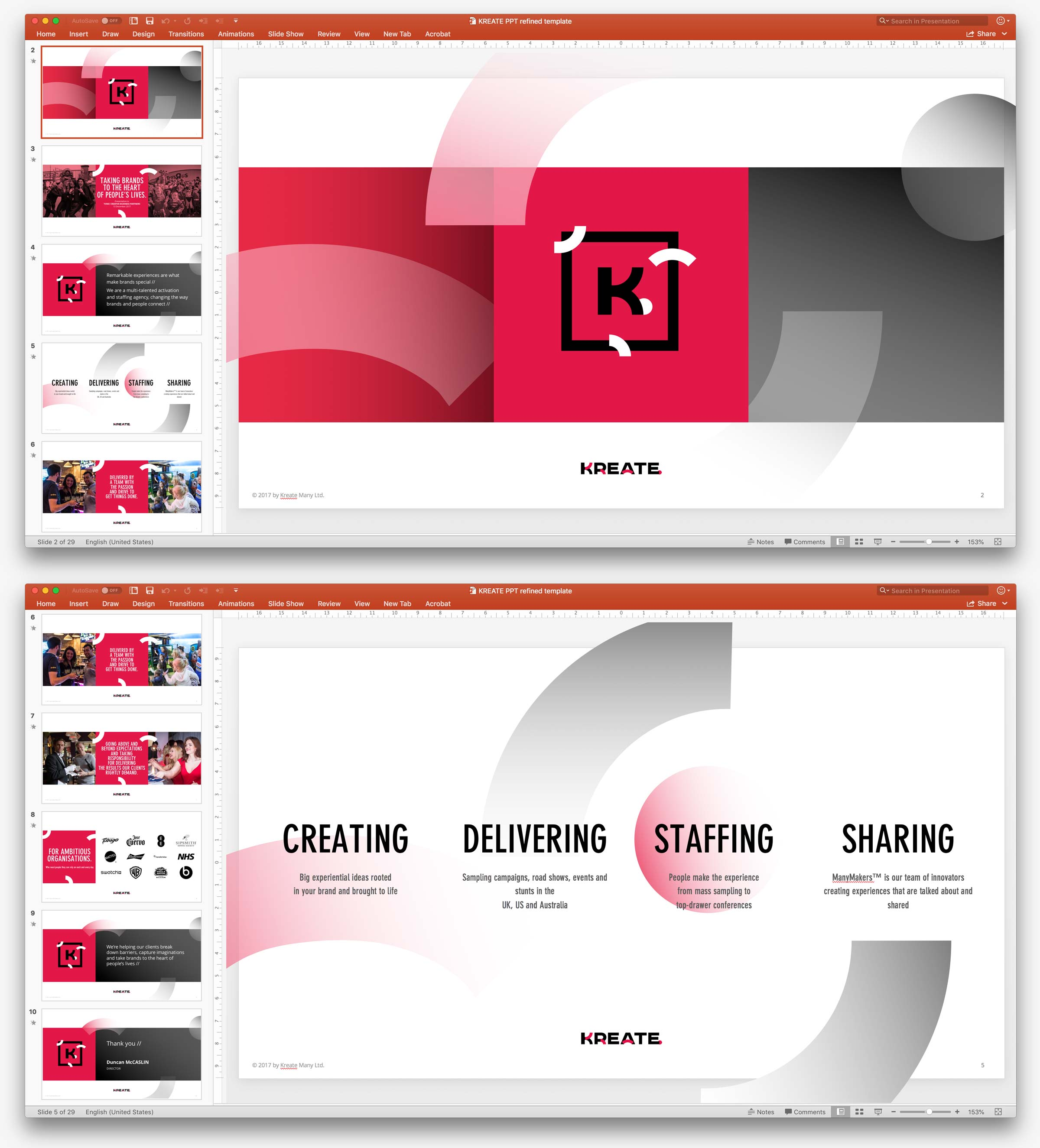 KREATE presentation template
