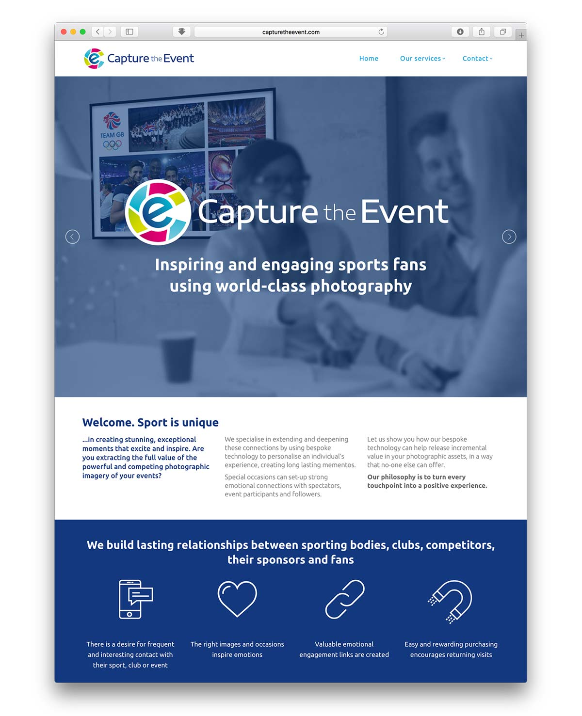Capture the Event website design